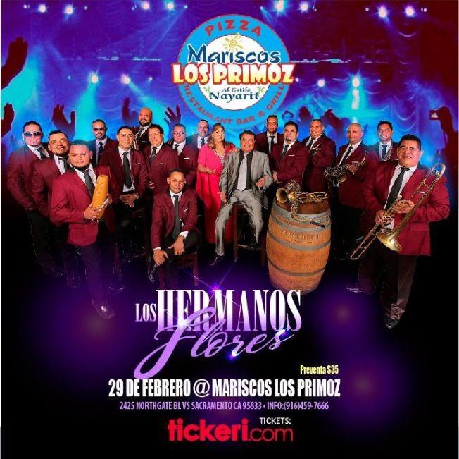 Flyer for Los Hermanos Flores en Sacramento,CA