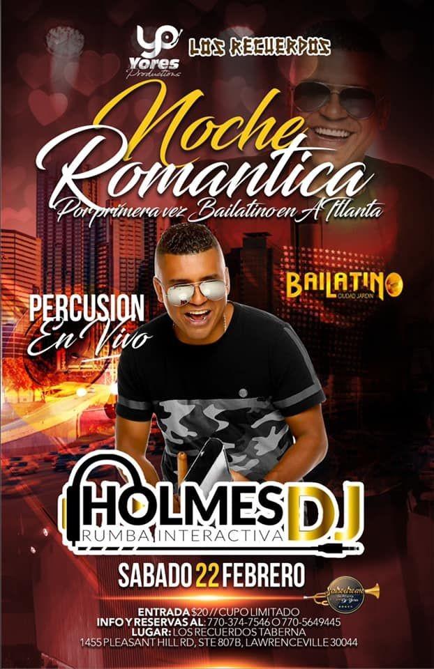 Flyer for CELEBRANDO EL DIA DEL AMOR & LA AMISTAD-NOCHE DE SALSA ROMANTICA CON DJ HOLMES