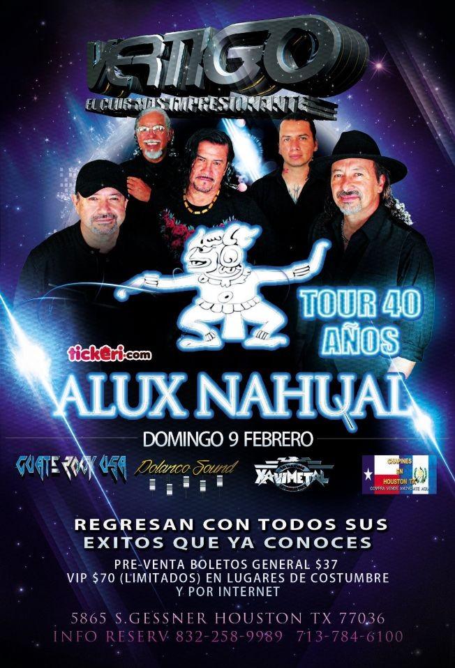 Flyer for Alux Nahual en Concierto! Tour 40 Años