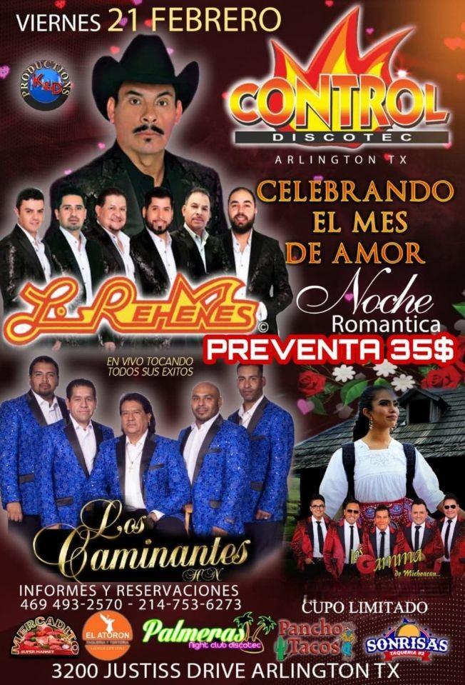 Flyer for Los Rehenes, Los Caminantes y Los Gamma de Michoacan en Vivo!