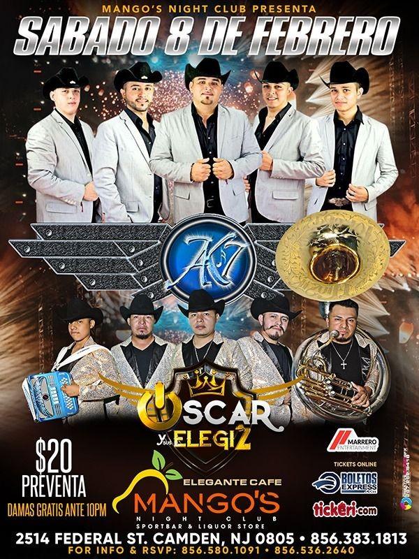 Flyer for AK 7 & Oscar y Sus Elegidos en Vivo!