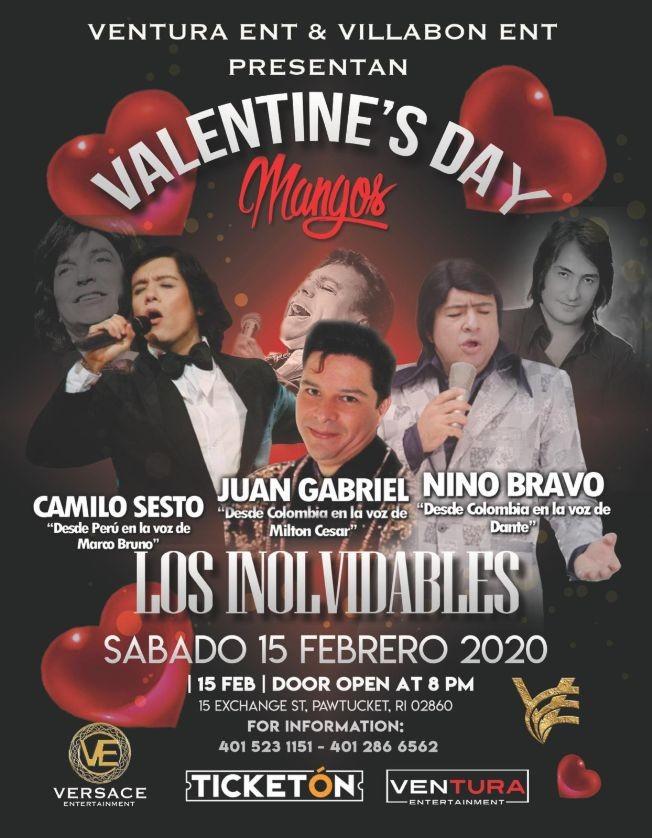 Flyer for Tributo Los Inolvidables Camilo Sesto,Juan Gabriel y Nino Bravo En Pawtucket,RI