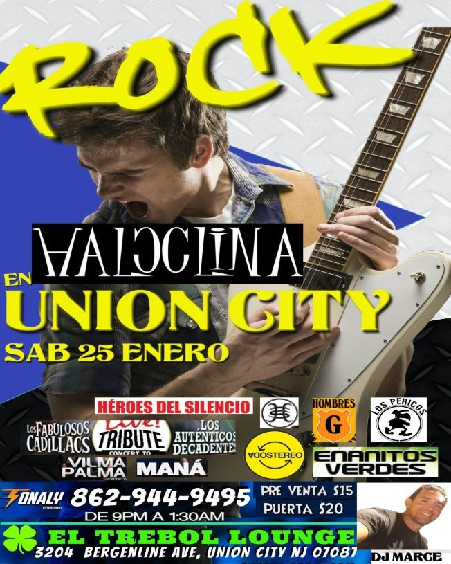 Flyer for Tributo al Rock by Haloclina