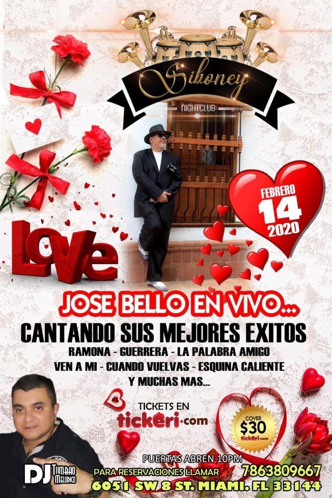 Flyer for José Bello En Vivo En Miami, FL