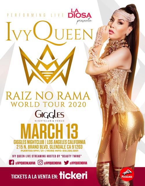 Flyer for IVY QUEEN EN LOS ANGELES