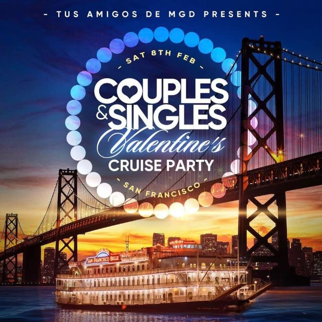 Flyer for Valentine's at Sea! Singles & Couples Cruise Party
