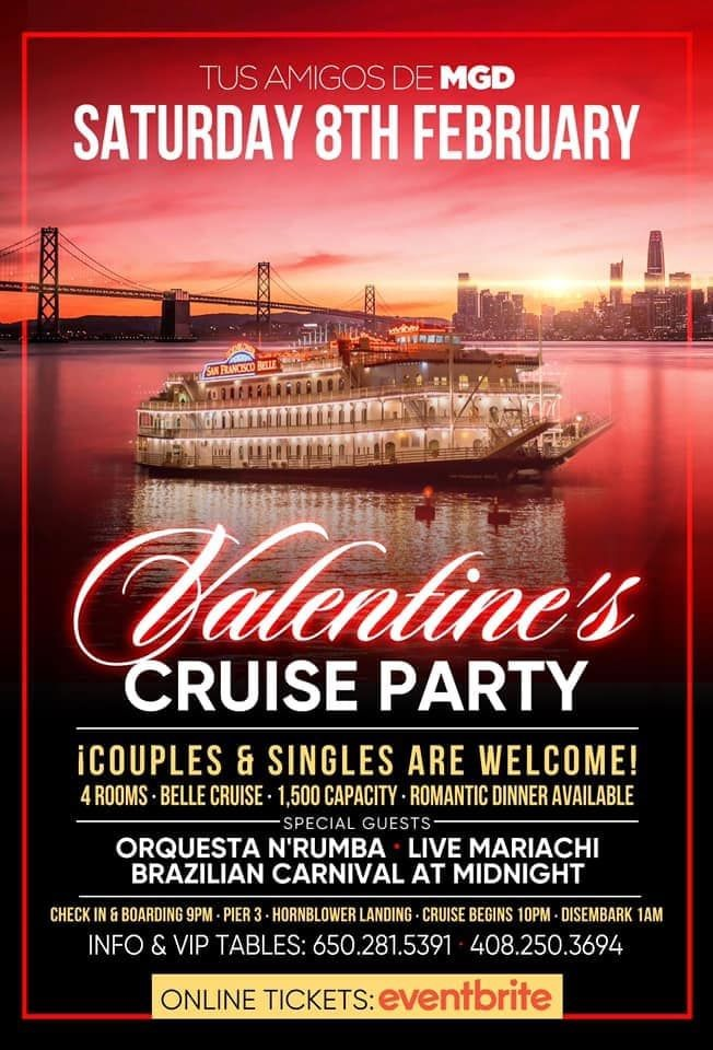 Flyer for Valentines Singles & Couples Cruise Party