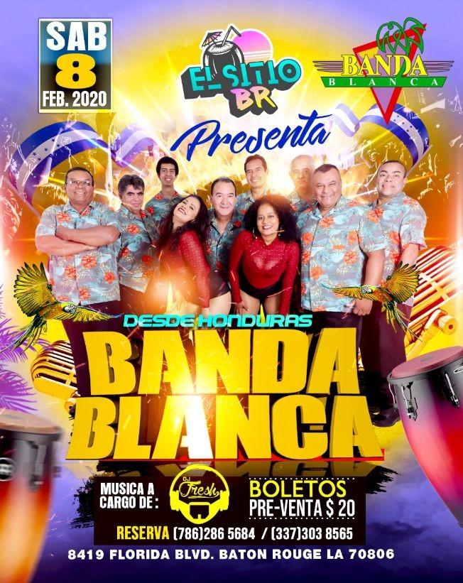 Flyer for Banda Blanca En Concierto En Baton Rouge,LA