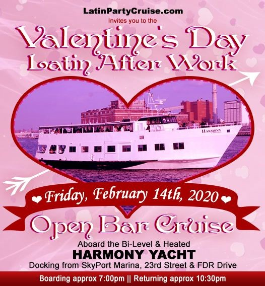 Flyer for Valentine's Day Latin After Work Dance Cruise