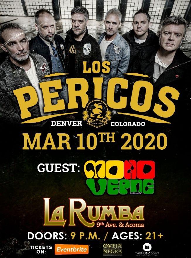 Flyer for Los Pericos en Concierto!