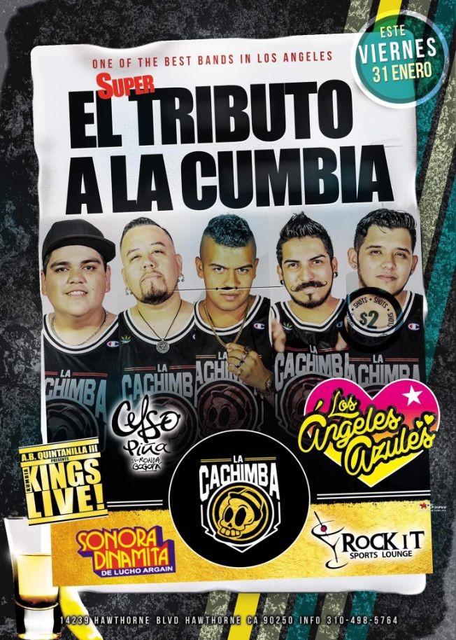 Flyer for EL SUPER TRIBUTO A LA CUMBA