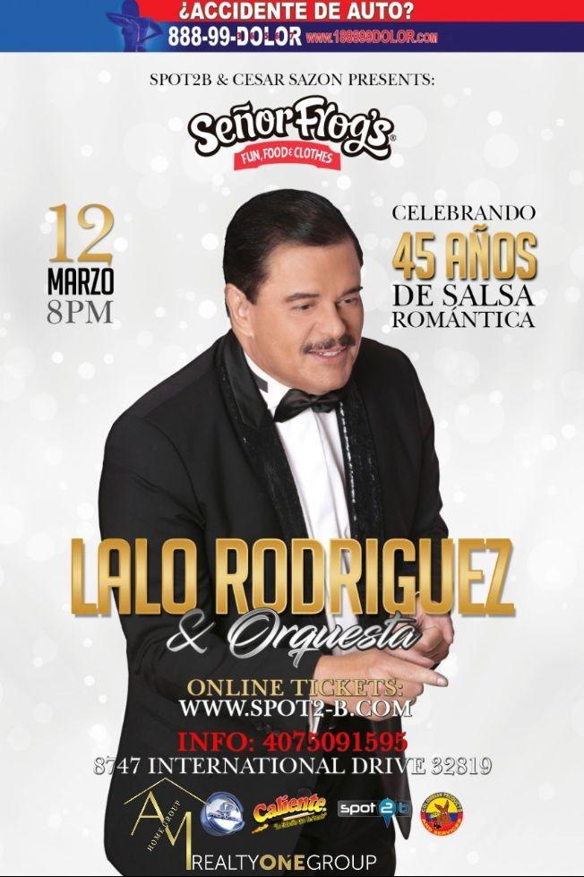 Flyer for TONIGHT LALO RODRIGUEZ EN CONCIERTO