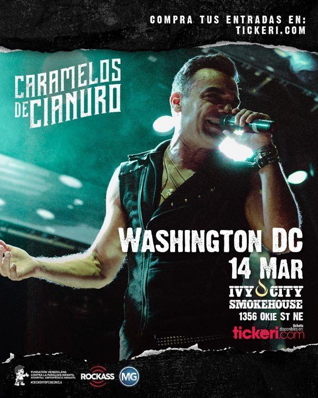 Flyer for Caramelos de Cianuro @ Ivy City Smokehouse (DC)