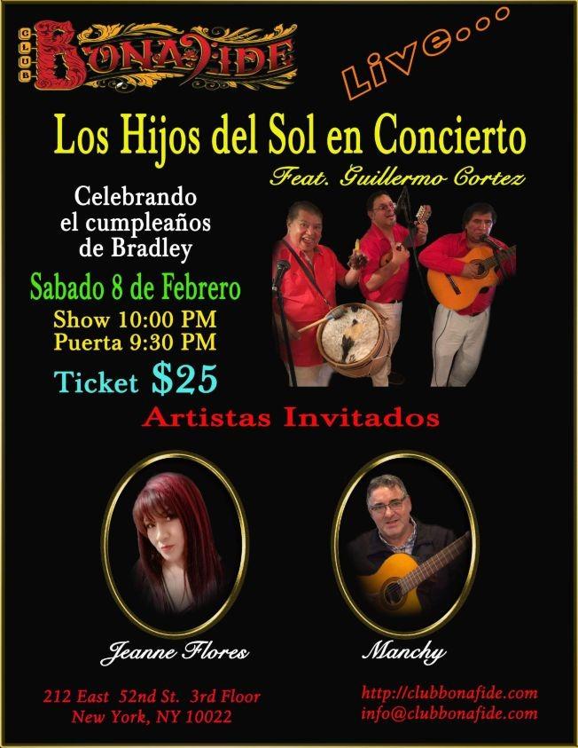 Flyer for Los Hijos Del Sol En Concierto Feat. Guillermo Contreras y Artistas Invitados