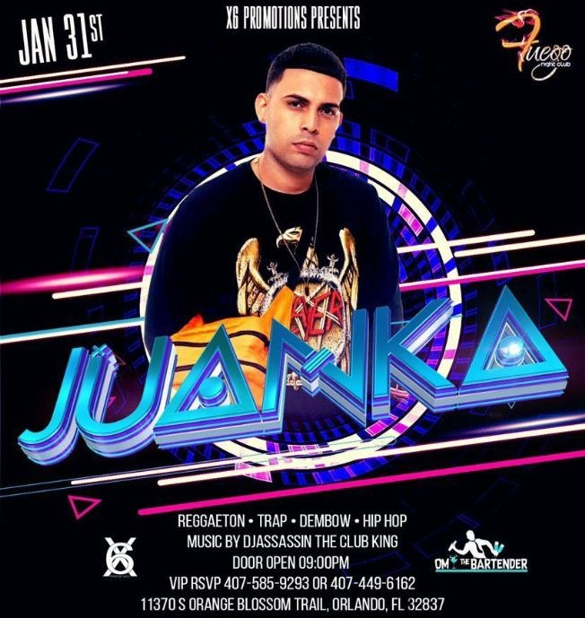 Flyer for Juanka Live!