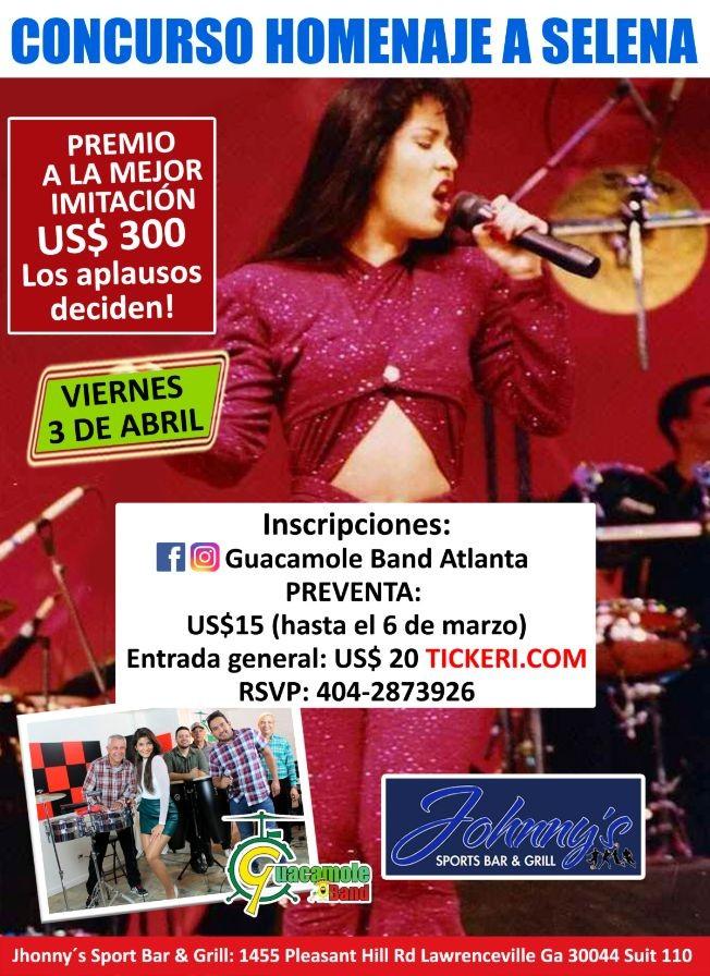 Flyer for Homenaje a Selena