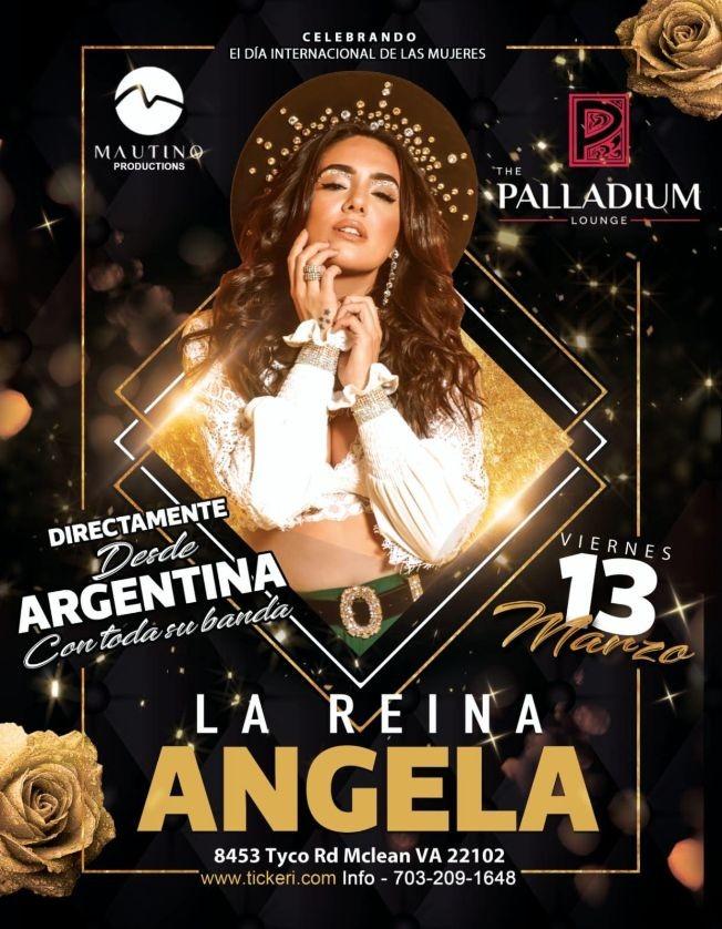 Flyer for LA REINA ANGELA LEIVA CANCELED