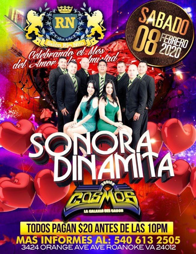 Flyer for Sonora Dinamita En Roanoke,VA