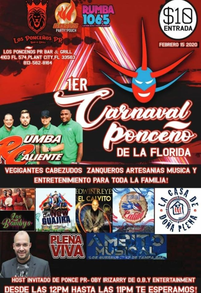 Flyer for Carnaval Ponceno