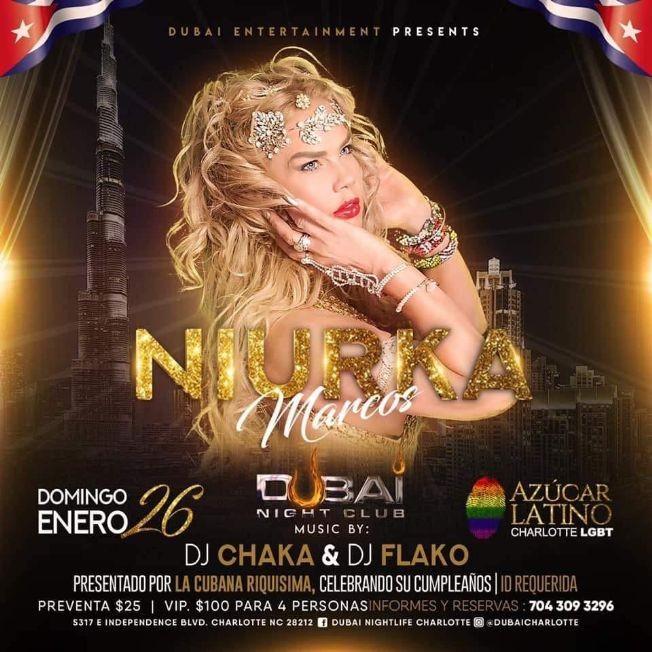 Flyer for Niurka Marcos En Charlotte,NC