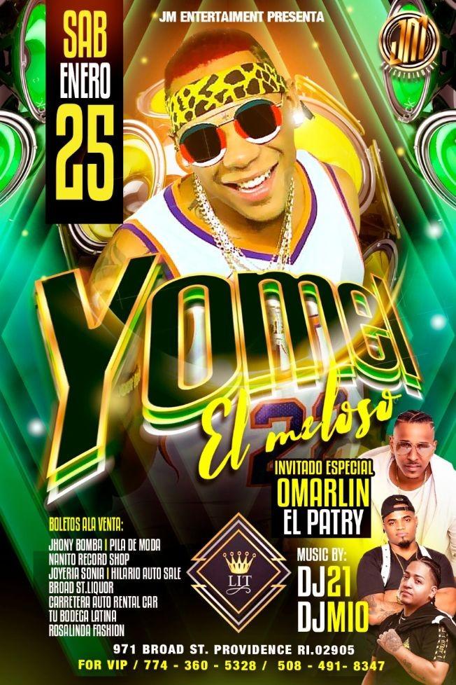 Flyer for Yomel El Meloso En Concierto En Providence,RI