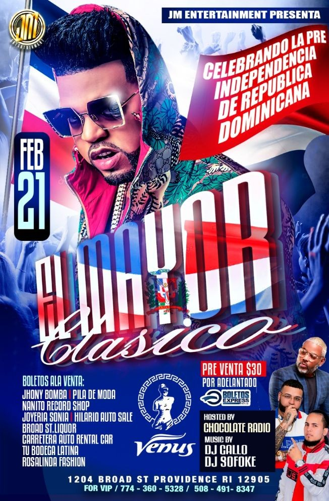 Flyer for El Mayor Clasico En Providence,RI
