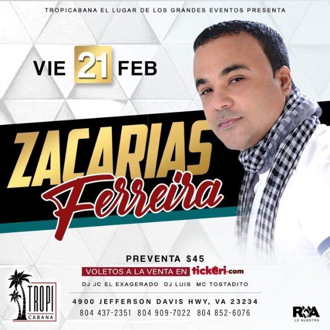 Flyer for Zacarias Ferreira en Concierto