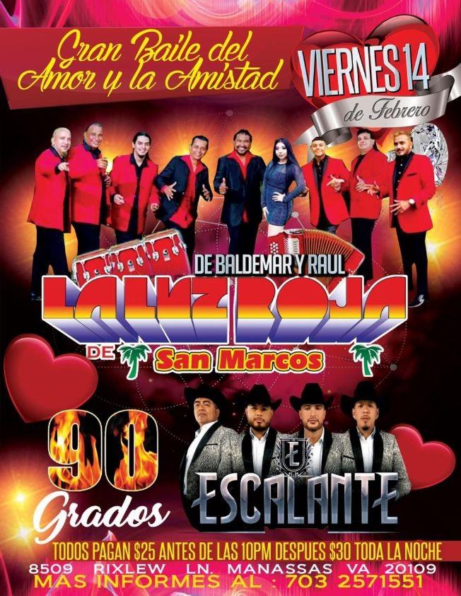 Flyer for Luz Roja de San Marcos y Escalante