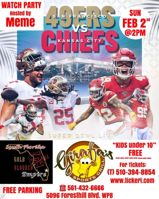 Flyer for SF Gold Blooded Superball Watch Party