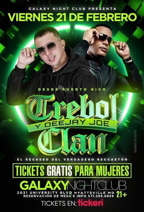 Flyer for Trebol Clan junto a Deejay Joe en Concierto!