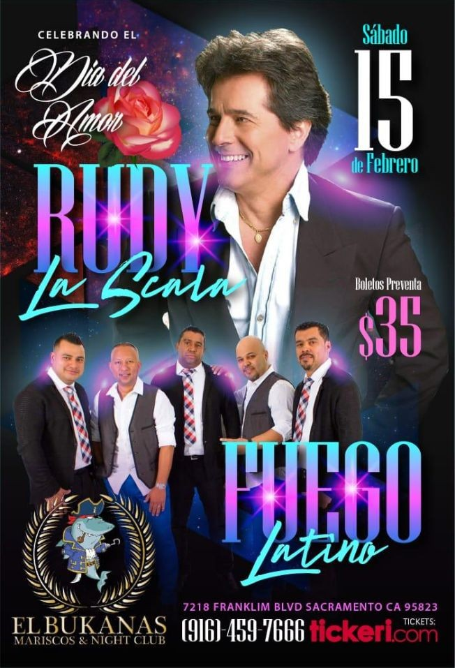 Flyer for Rudy la Scala en Sacramento,CA