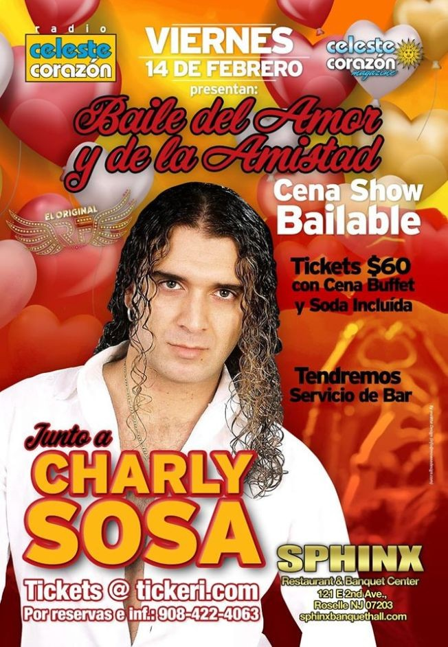 Flyer for Baile del Amor y la Amistad