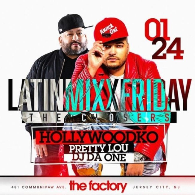 Flyer for Latin Mix Fridays The Closers At Factory