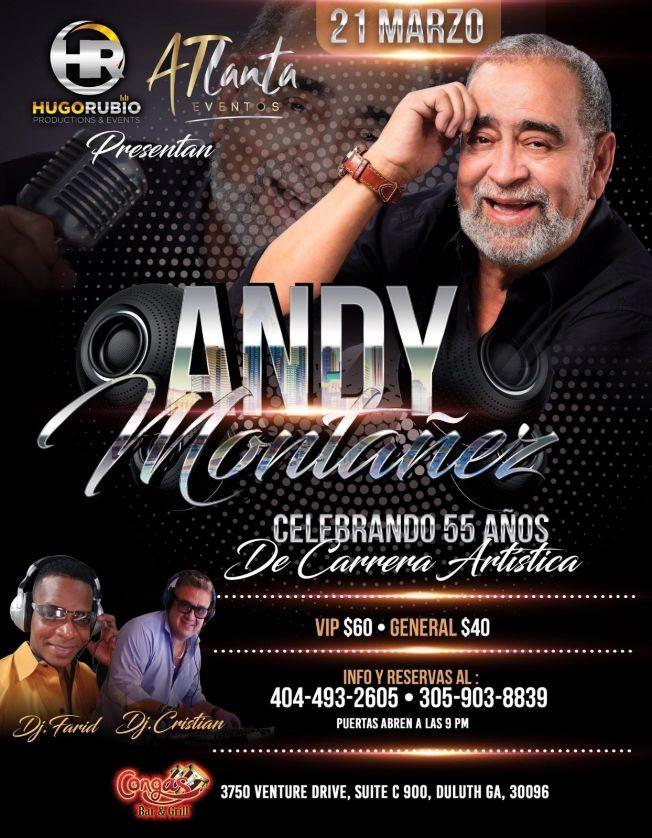 Flyer for Andy Montanez en Atlanta
