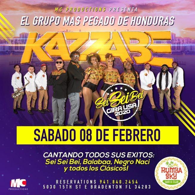 Flyer for Kazzabe - Bradenton, FL (Sei Sei Bei, Gira USA)