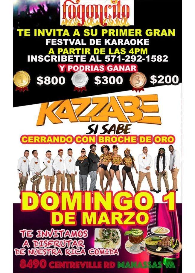 Flyer for Kazzabe - Manassas, VA (Sei Sei Bei, Gira USA) CANCELED