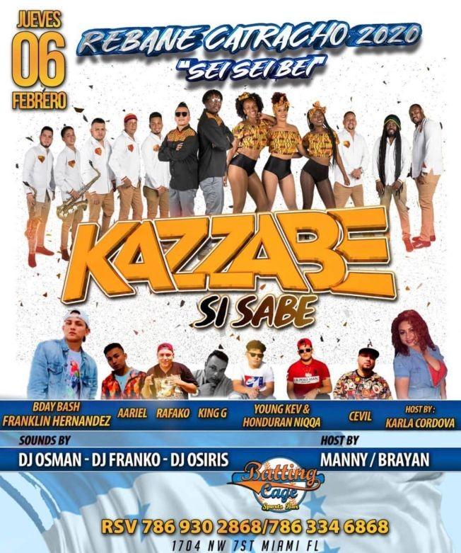 Flyer for Kazzabe - Miami, FL (Sei Sei Bei, Gira USA)
