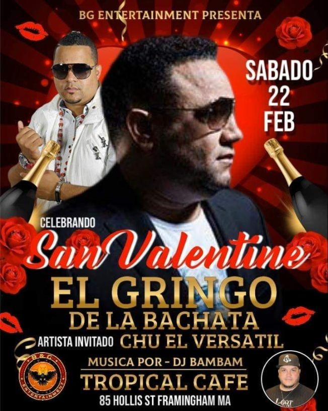 Flyer for EL GRINGO DE LA BACHATA Y CHU VERSATIL