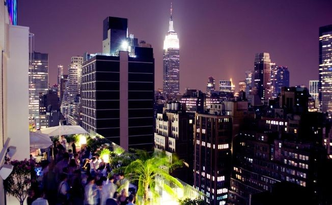 Flyer for SATURDAY NIGHT PARTY | Sky Room NYC Tallest Rooftop Bar Lounge  Times Square