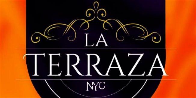 Flyer for LA TERRAZA NYC #1 SATURDAY NIGHT LATIN PARTY | LATIN VIBES