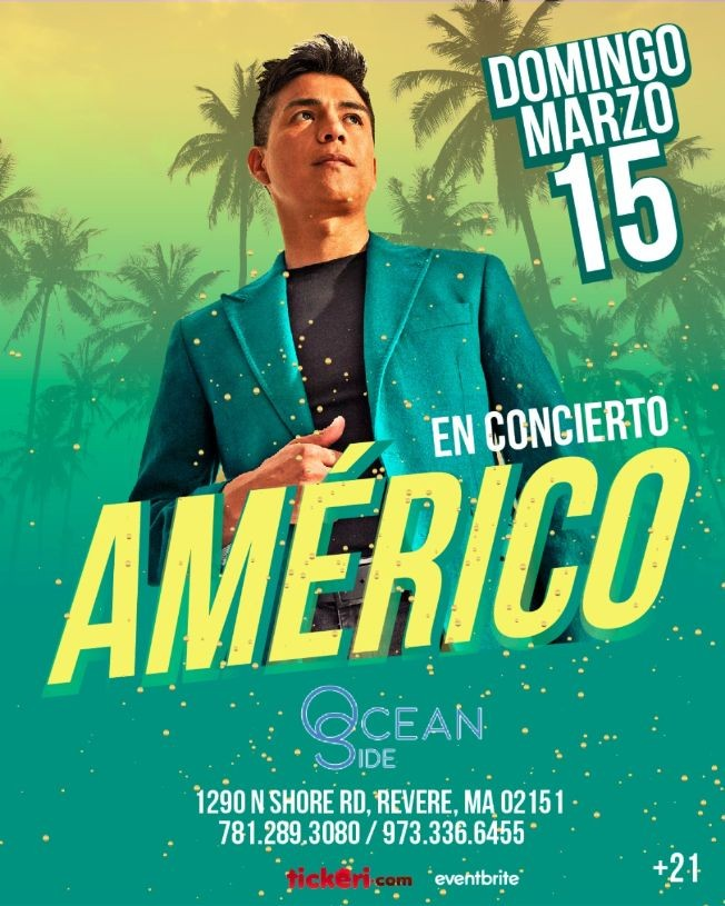 Flyer for Americo en Boston CANCELED