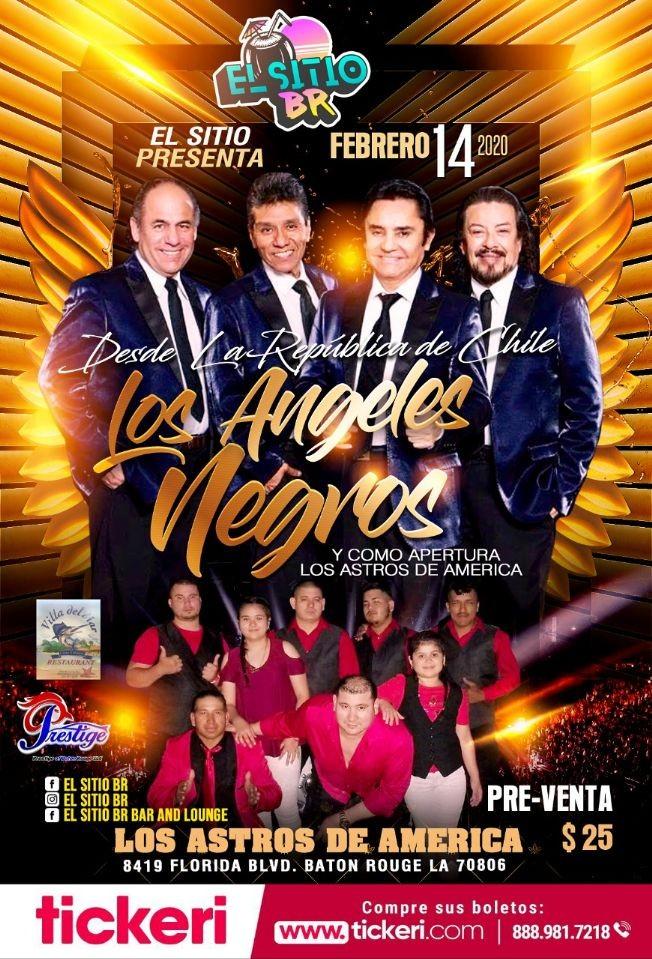 Flyer for Los Angeles Negros y Los Astros De America En Baton Rouge,LA