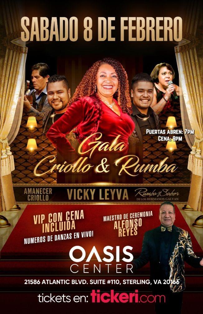 Flyer for Gala Criollo & Rumba