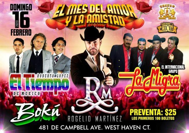 Flyer for Rogelio Martinez,El Tiempo De Mexico y Mas En West Haven,CT
