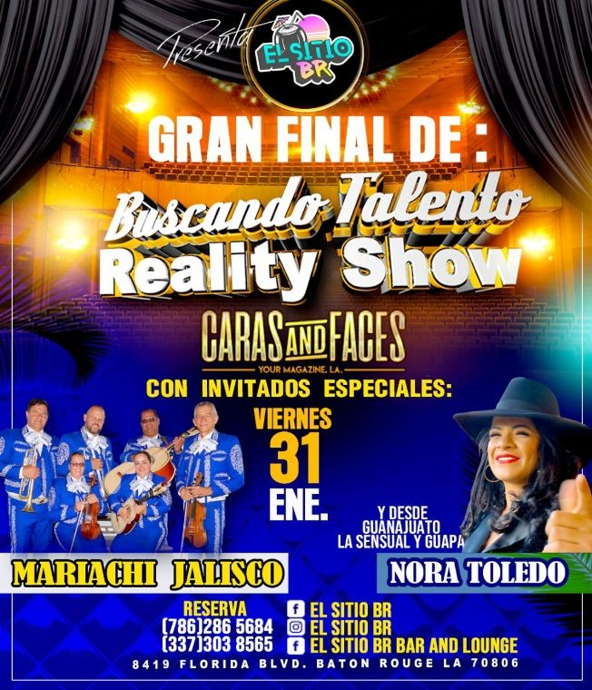 Flyer for Gran Final De Buscando Talento Reality Show En Baton Rouge,LA
