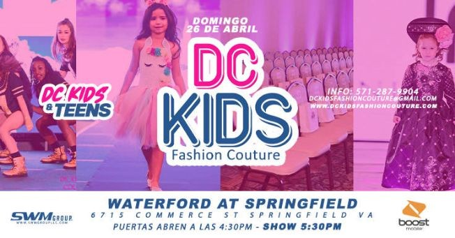Flyer for DC Kids Fashion Couture en Springfield POSTPONED