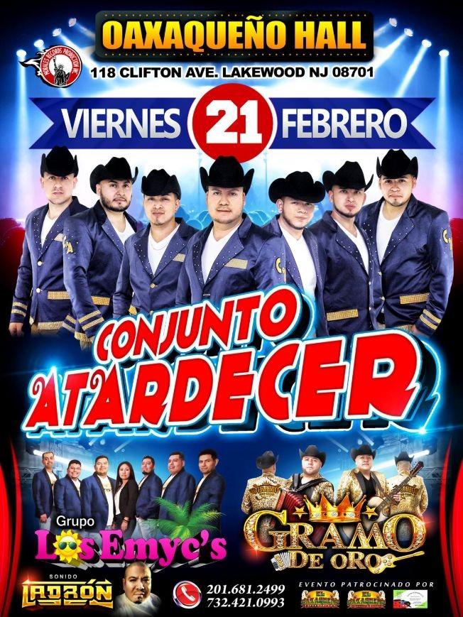 Flyer for Conjunto Atardecer y Mas En Lakewood,NJ