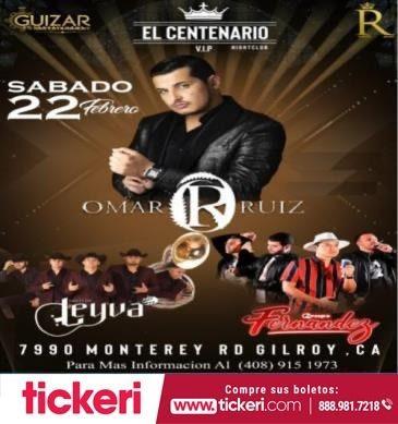 Flyer for Omar Ruiz y Mas En Gilroy,CA