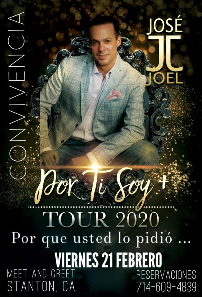 Flyer for Jose Joel Tour 2020 En Stanton,CA