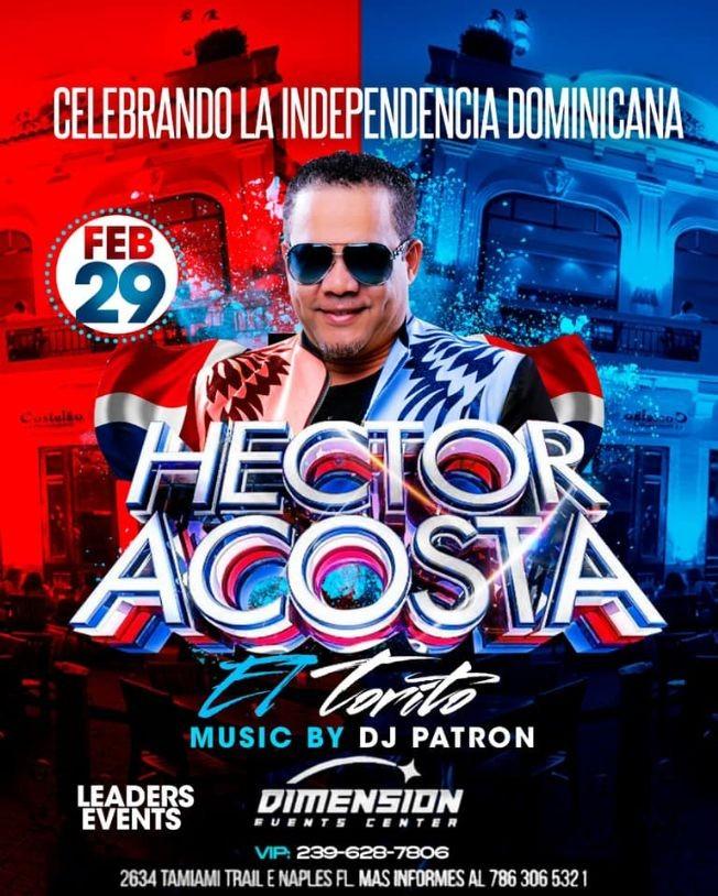 Flyer for HECTOR ACOSTA EL TORITO